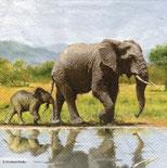 Servilletas para decoupage con elefantes