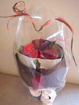 プリザーブドフラワー,花束,赤バラ