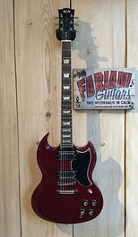 FGN Neo Classic DC 10 SG, E Gitarre, winered / weinrot