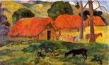 Paul Gauguin Dorf auf Tahiti