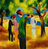 August Macke Frau in Grün