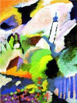 Wassily Kandinsky Murnau mit Kirche