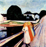 Edvard Munch Mädchen auf der Brücke