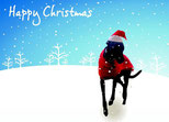 Erin Hounds Christmas Cards 2014 - 5 pack