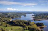 """Lac de la Triouzoune (Neuvic) 410 hectares - Labellisé """"Pavillon Bleu"""""""