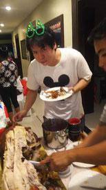 Eating Daisuke