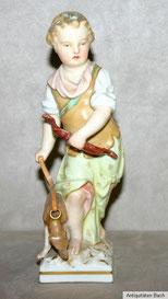 Porzellanfigur Mädchen mit Hund und Bogen , KPM Berlin, € 425,00