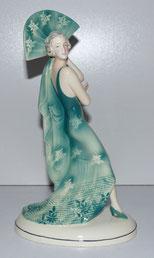 Porzellanfigur, Tänzerin mit Fächer , Katzhütte Hertwig & Co Porzellanfabrik,€ 320,00