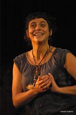 Pascale Rambeau, chanteuse dans le groupe vocal Les Goules Poly