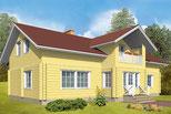 Wohnblockhaus mit Sattldach