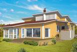Massivholzhaus Celle mit Pultdach - Massivholzhäuser nach individueller Planung - Haus bauen - Blockhausbau nach moderner Art - Blockbohlenhäuser mit hohem Holzanteil