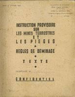 Notice provisoire sur les mines terrestres