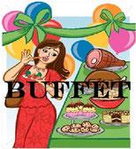 Lust auf ein leckeres Buffet?