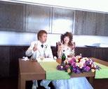 marbleのstaffのエイコちゃんの結婚式でした。ドレス姿かわいいですね~~~。おめでとう