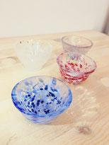 HANDMADE GLASS SAKE CUP: SAKURA & WATER