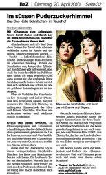 Basler Zeitung, Teufelhof 2012