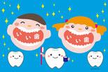 歯と歯磨きのイラスト