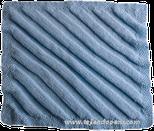 Manta tejida en dos agujas en diagonal para bebes