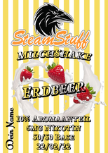 Milchshake-Erdbeer, Erdbeer Milchshake zum Dampfen, Erdbeermilch als Liquid