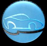 button, wert, erhalten, auto, blau, logo