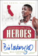 BILL CARTWRIGHT / Hometown Heroes - No. HH-BCW  (#d 10/10)