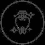 Symbole Zahn und Diamant