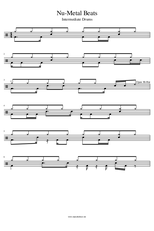 Drumgrooves PDF intermediate Nu-Metal