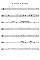 Arbeitsblatt Rhythmus 1 einfach