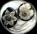 Les Galets de Lyzzz - galet fleurs à piquer décoration arts de la table