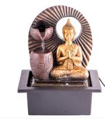 Zimmerbrunnen, Buddha, Blume des Lebens, Windspiel