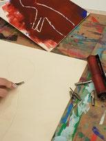 Holzschnitt in der Museumswerk.statt. Foto: Edith Viezens-Kleinert