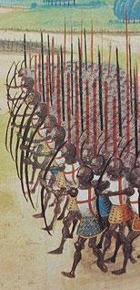 Miniature extraite de la Chronique d'Enguerrand de Monstrelet.Wikipedia