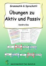 Aktiv oder Passiv Übungen PDF Lösungen, Aktiv Passiv Erklärungen, Aktiv Passiv Regeln, Aktiv Passiv Sätze, Aktiv Passiv Theorie,  Aktiv und Passiv leicht erklärt, Aktiv Passiv Zeitformen, Aktiv Passiv konjugieren