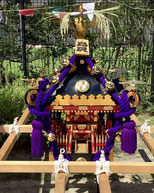 "There is also a ""small Mikoshi"" that chilren can carry."