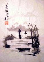 Chinesisches Segelboot