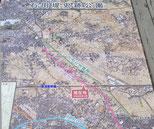 石田堤の位置を示す案内図