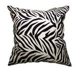 タイシルククッションカバー ゼブラ デザイン シリーズ 【Zebra Design】 45×45cm対応の商品案内画像01