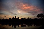 Morgenglühen über Angkor Wat