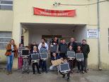 Dir. Sepp Fasching mit KollegInnen und SchülerInnen der Skola Austriake, HTL für Kommunikationstechnik in Shkodra/Albanien  Foto:Sepp Fasching