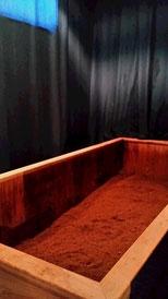 風水ルームに設置の米ぬか酵素風呂