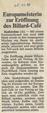 Euskirchener Zeitung 25.11.1988
