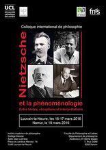 Nietzsche et la phénomènologie, Namur 2016
