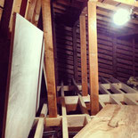(2013/03/25) 小屋裏収納造作