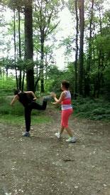 Kung fu en plein air _ Tawef