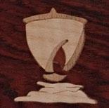 Magnet carré Voilier - 5x5 cm