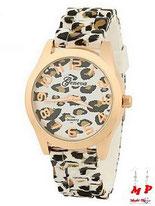 Montre à aiguilles léopard