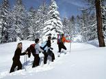 Wandelen in verse sneeuw