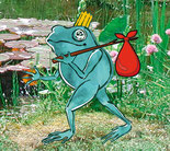 Frosch auf Reisen