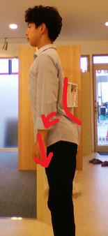 立っていると腰が痛い奈良県香芝市の女性