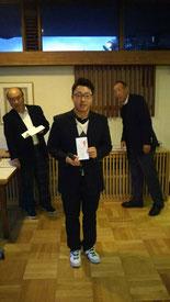 プロ会員表彰 2018山梨オープン優勝 大関 翔プロ